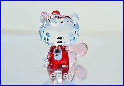 Swarovski Crystal Hello Kitty Pink Heart Red Sanrio 5135886 Brand New In Box