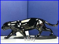 Swarovski Crystal Jet Black JAGUAR MIB#5048145