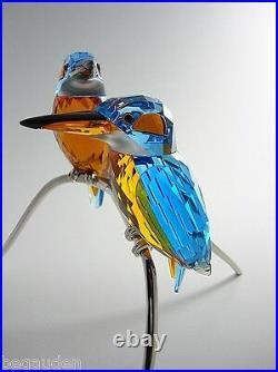 Swarovski Crystal Kingfishers, Blue Turquoise Birds # 5155669 Retired NIB