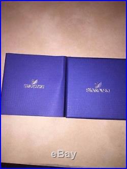 Swarovski Crystal Kris Bear With Poinsettia Christmas 2012 MINT BOTH BOXES RARE