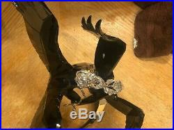 Swarovski Crystal Limited Edition 2015 Pair Of Bald Eagles Rare Slight Damage