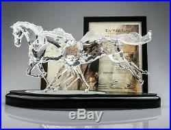 Swarovski Crystal Limited Edition WILD HORSES Mint In Box withCOA 2001 Horse