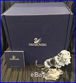 Swarovski Crystal Lion On Rock, 2008 Retired #269377