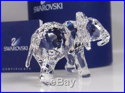 Swarovski Crystal Little Elephant Retired 2011 Mib #678945