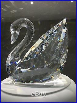 Swarovski Crystal MAXI SWAN #189254 Giant Bird Brand New With Rare Stand