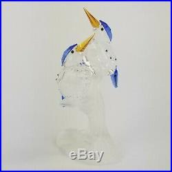 Swarovski Crystal Malachite Kingfishers Tropical Birds Figurine 623323 Retired
