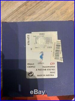 Swarovski Crystal Mint Chipili Aquamarine Seahorse 9601 030 901 / 656653 MIB