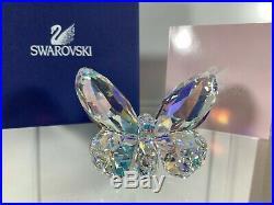 Swarovski Crystal Mint Figure Butterfly Aurora Borealis 9100 000 026 / 953056