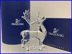 Swarovski Crystal Mint Figurine Christmas Reindeer 7475 000 602 / 214821 MIB