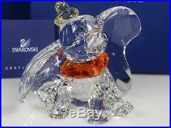 Swarovski Crystal Mint Figurine Disney Dumbo Colored 1052873 MIB WithCOA