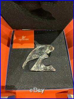 Swarovski Crystal Mint Figurine Orca Whale 7644 000 MIB 009 / 622939 MIB / COA