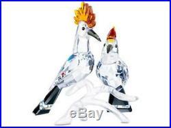 Swarovski Crystal Mint Figurine Pair Of Hoopoes 9100 000 102 / 925080 MIB WithCOA