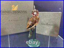 Swarovski Crystal Mint Figurine Paradise Birds Baimura Pink 284063 MIB WithCOA