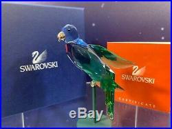 Swarovski Crystal Mint Figurine Paradise Birds Baracoa Green Bl 275578 MIB WithCOA