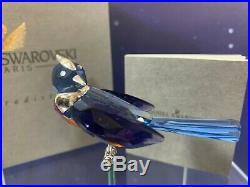 Swarovski Crystal Mint Figurine Paradise Birds Benua Dark Sapphire 284066 MIB With