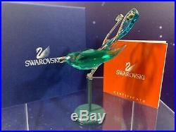 Swarovski Crystal Mint Figurine Paradise Birds Boali Antique Green 275575 MIB