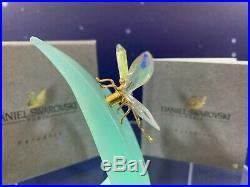 Swarovski Crystal Mint Figurine Paradise Bugs Dragonfly 9601 012 001 MIB WithCOA
