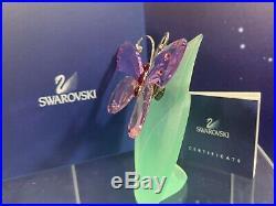 Swarovski Crystal Mint Figurine Paradise Butterfly Acara Violet 719184 MIB WithCOA