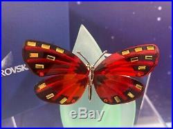 Swarovski Crystal Mint Figurine Paradise Butterfly Adena Light Siam 622737 MIB W