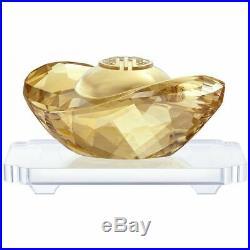 Swarovski Crystal Mint Golden Ingot Large Gold Shine Chinese 5259805 Symbol MIB