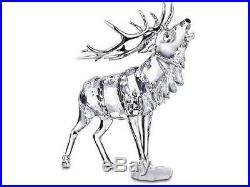 Swarovski Crystal Mint Large Stag Rhodium Antlers MIB Elk Rare 291431
