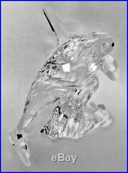 Swarovski Crystal ORCA whale with Original Box and Certificate