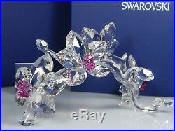 Swarovski Crystal Orchids Retired 2010 Mib #864443