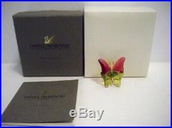 Swarovski Crystal Paradise Abala Ruby Butterfly Retired 250459 Nib Coa