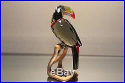 Swarovski Crystal Paradise Birds Black Diamond Toucan Rare 2009 850600 Mint
