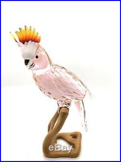 Swarovski Crystal Paradise Cockatoo Red Figurine #718565 In Box