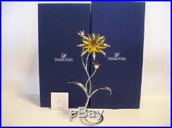 Swarovski Crystal Paradise Darigold Light Topaz Exotic Flower 5155664 Bnib Coa
