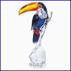 Swarovski Crystal Paradise Toucan, Multi Color, Crystal Figurine 5493725
