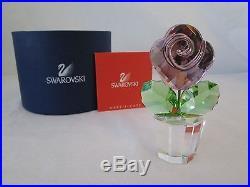 Swarovski Crystal Pink Rose, Large 872196 BNIB COA! Retired