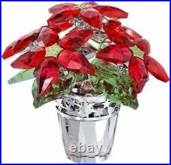 Swarovski Crystal Poinsettia Large #1139997 Brand Nib Flowers Red Christmas F/sh