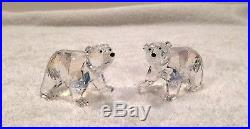 Swarovski Crystal Polar Bear Cubs Crystal Moonlight 1079156