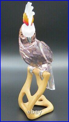 Swarovski Crystal Red Cockatoo Paradise Bird #718565 MINT