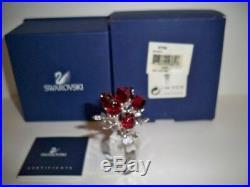 Swarovski Crystal Red Roses 627098 Bnib Coa