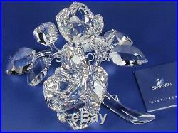 Swarovski Crystal Roses Retired 2010 Mib #890285