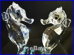 Swarovski Crystal SEAHORSES with Blue Coral, Item # 9100 NR 000 059 / 885 589