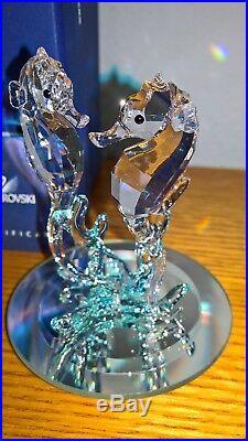 Swarovski Crystal Sea Horses with Mirror, Box and COA 885589