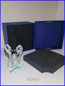 Swarovski Crystal Seahorses Brilliant 885589 Retired Figurine In Box NO RESERVE