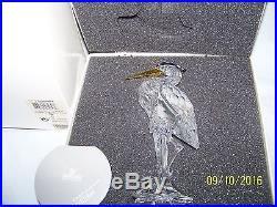 Swarovski Crystal Silver Heron Bird Figurine New In Box 7670nr000001 Retired