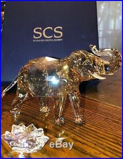 Swarovski Crystal Society (scs) 2013 Elephant Cinta Figurine #1137207 Mib