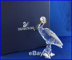 Swarovski Crystal Spoonbill Bird Figurine 931746 Mint IOB with Outer Box & Cert