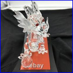 Swarovski Crystal The Dragon Fabulous Creatures Trilogy 1997 with Stand
