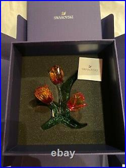 Swarovski Crystal Tulips Orange Beautiful Flower 5302530 Brand New In Box