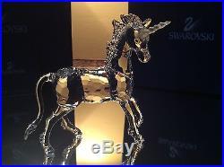 Swarovski Crystal Unicorn NEW in BOX/COA! #630119 / 7550 013 Retired, Swan logo