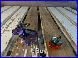 Swarovski Crystal decor cow halloween pumpkin set lovlots magic mo 1139968 2012