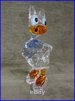Swarovski Daisy Duck, Colored Crystal, Disney Figurine, #5115334, Mib