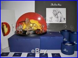 Swarovski Disney 2010 Lion King Series Complete 6 Piece Set + Lithograpgh Bnib